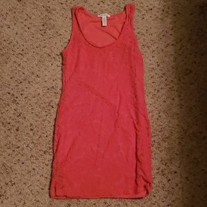 Womens pink lace tank top
